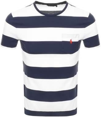 Ralph Lauren Stripe T Shirt Navy