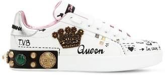 Dolce & Gabbana 20mm Portofino Crown Leather Sneakers