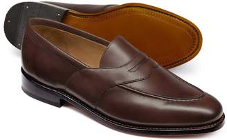 Charles Tyrwhitt Chocolate Goodyear Welted Saddle Loafer Size 7