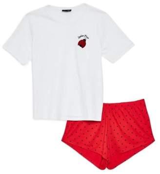 Topshop Ladies First Short Pajamas