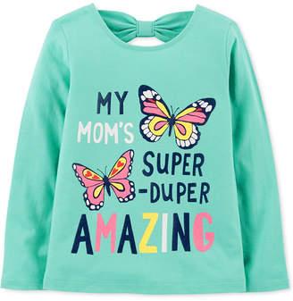 Carter's Baby Girls Butterfly-Print Cotton T-Shirt