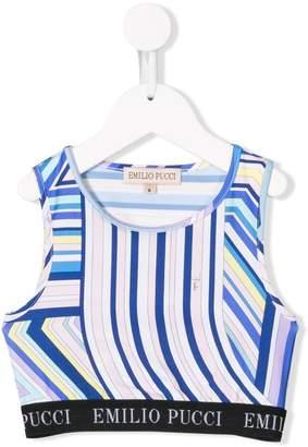 Emilio Pucci Junior cropped printed top