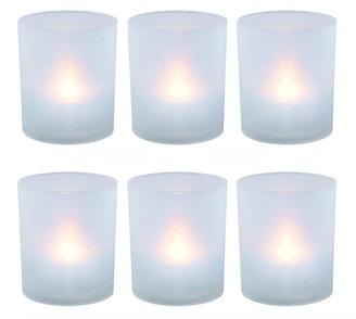 Lumabase LumaBase Frosted Plastic Warm White LED Candle 6-piece Set