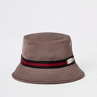 River Island Womens Dark Beige taped bucket hat