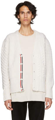 Thom Browne Off-White Funmix Classic V-Neck Cardigan