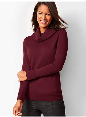 Talbots Merino Button-Cuff Cowlneck Sweater