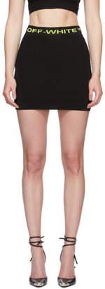 Off-White Black Knit Miniskirt