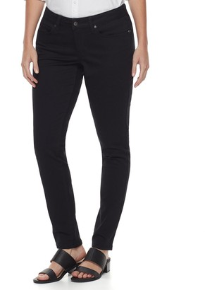 Sonoma Goods For Life Women's SONOMA Goods for Life Midrise Curvy Fit Sateen Skinny Pants