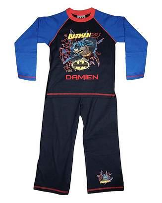 Fashion World Personalised Batman Pyjamas