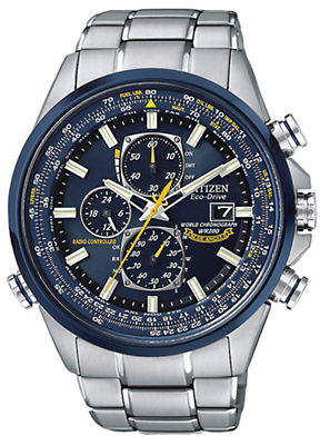 Citizen Men's Eco-Drive Blue Angels World Chronograph A-T Watch