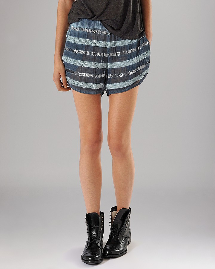 Maje Shorts - Attriance Sequin