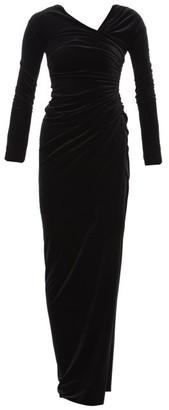 Alexandre Vauthier Wrap Effect Velvet Gown - Womens - Black