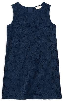 Kate Spade Girls' Contrast Heart-Lace Dress - Big Kid