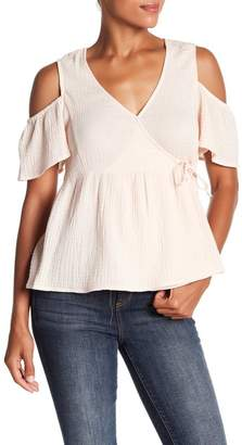 Lucky Brand Cold Shoulder Gauze Top