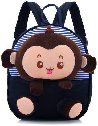 Speedcarbon11 Unisex Kids Backpacks Little Boys Girls Lovely Plush Monkey Shoulders Bag Toddler School bags