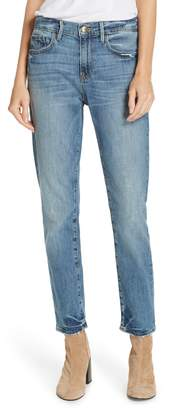 Frame Le Boy Distressed Boyfriend Jeans