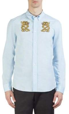 Kenzo Dragon Slim-Fit Cotton Button-Down Shirt