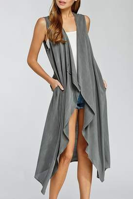 Cherish Long Cardigan Vest