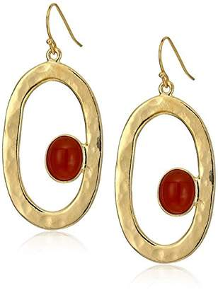 Ben-Amun Jewelry Sculpture Garden Oval Drop Earrings