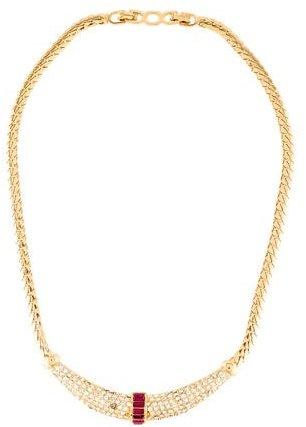 Christian Dior Christian Dior Crystal Collar Necklace