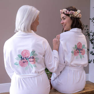 Sparks And Daughters Personalised Rose Wedding Women's Dressing Gown