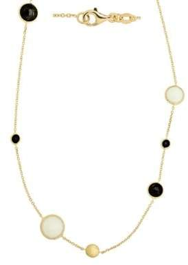 Lord & Taylor 14Kt. Yellow Gold Onyx Necklace