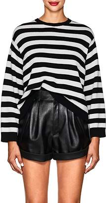 Valentino Women's Bow-Embellished Striped Cashmere Sweater