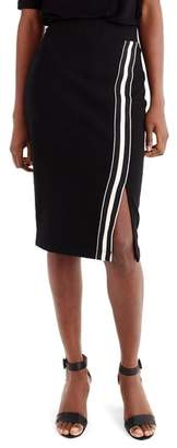 J.Crew Universal Standard for Track Stripe Slit French Terry Skirt