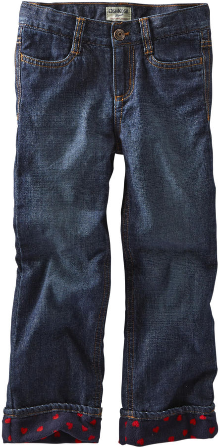 Osh Kosh Oshkosh Fleece-Lined Jeans-Dark Rinse