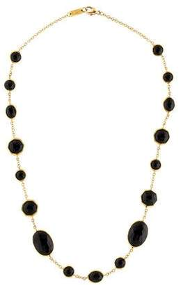 Ippolita Onyx Polished Rock Candy Station Necklace