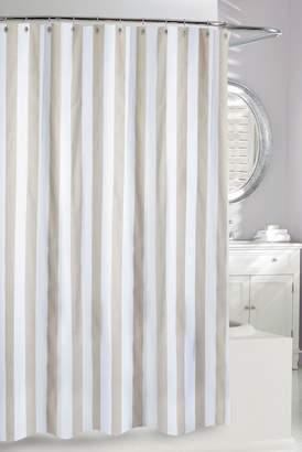 Ralph Lauren Moda At Home Beige/White Stripe Shower Curtain