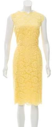 Valentino Lace Sheath Dress w/ Tags Yellow Lace Sheath Dress w/ Tags