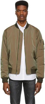 John Elliott Green Iridescent Bogota Bomber Jacket