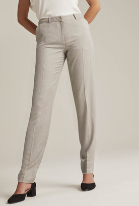 Long Tall Sally Grey Tailored Cigarette Leg Suit Trouser