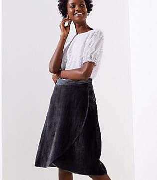 LOFT Velvet Wrap Skirt