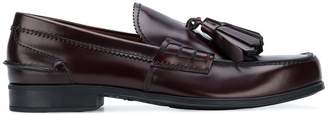 Prada tassel front loafers