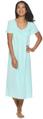 Miss Elaine Women's Essentials Pajamas: Long Tricot Nightgown
