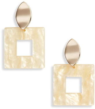 Halogen Square Drop Earrings