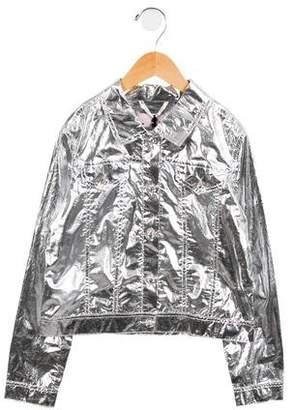 Lanvin Petite Girls' Embellished Metallic Jacket
