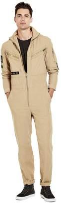 GUESS Men's Boyd Patch Poplin Jumpsuit