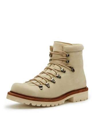 Frye Woodson Suede Hiker Boot, Ivory