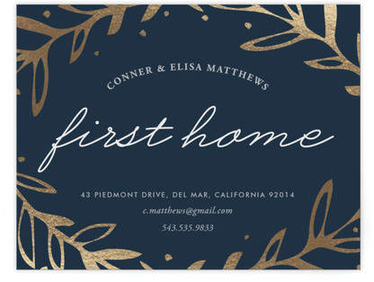 Gilded Home Foil-Pressed Moving Announcements