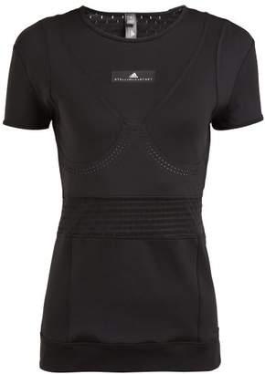adidas by Stella McCartney Train Fitted T Shirt - Womens - Black