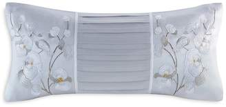 Natori White Orchid Decorative Pillow, 10 x 20