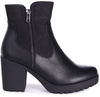 Laurèl Linzi Black Nappa Heeled Ankle Boot