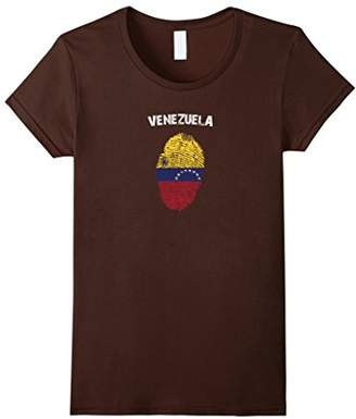 Venezuela Fingerprint Flag Country Pride Heritage Shirt