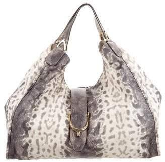 Gucci Animalier Embossed Soft Stirrup Bag