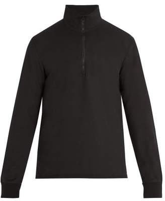 Barena Venezia - Half Zip Cotton Sweatshirt - Mens - Black