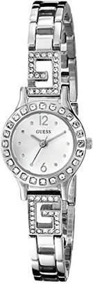 GUESS Women's U0411L1 -Tone Jewelry Inspired Watch with Self-Adjustable Bracelet