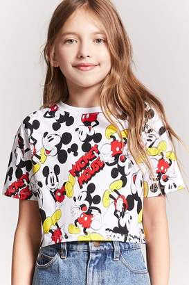 Forever 21 Girls Mickey Mouse Graphic Tee (Kids)